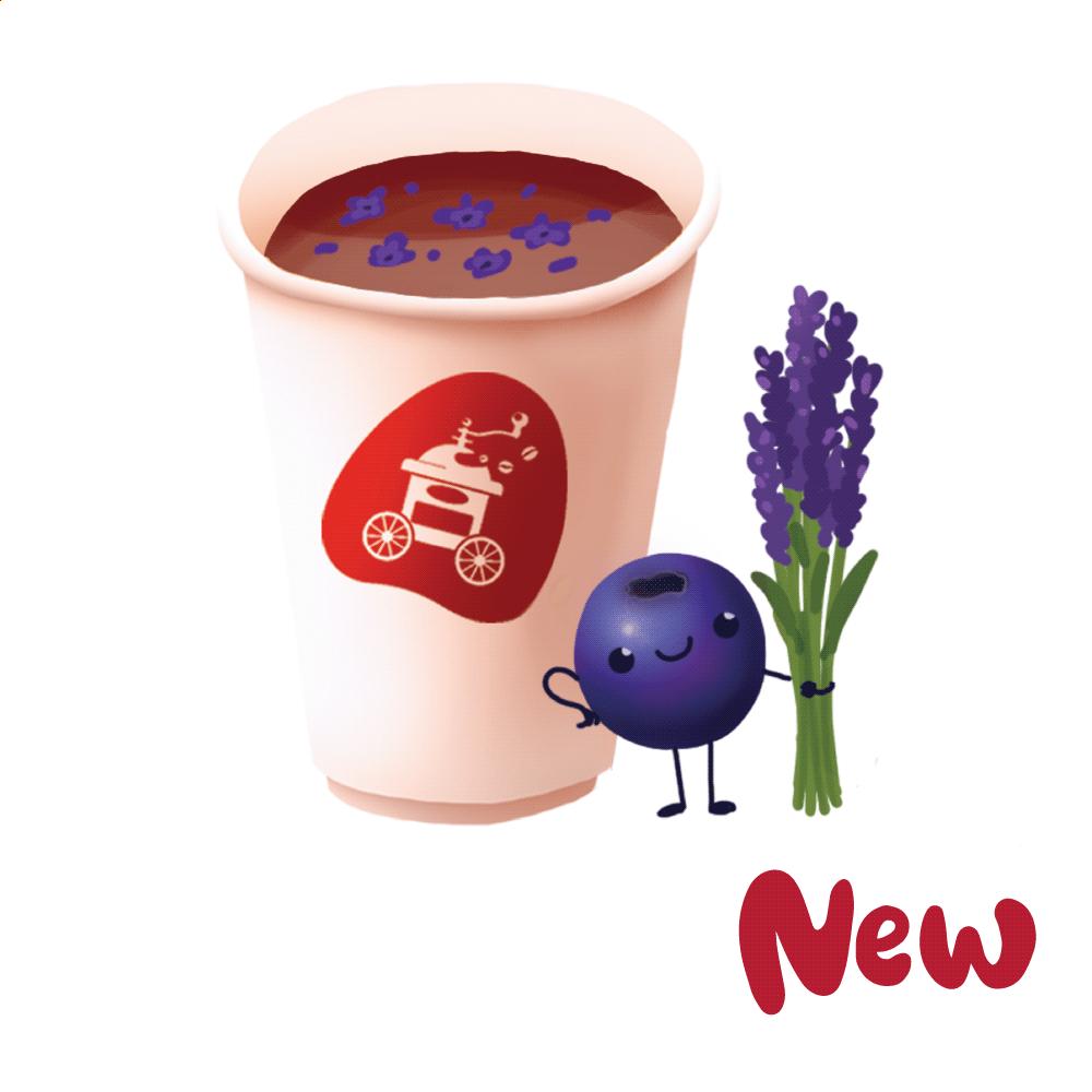 Чай чернично-лавандовый